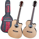 """KALOS 41"""" SOLID SPRUCE TOP ACOUSTIC ELECTRIC GUITAR"""