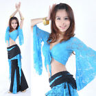 New Belly Dance Bolero Lace Top Flared Blouse 11 Colors