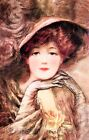 Beautiful Brown Eyed Lady Fabric Applique Multi Sizes