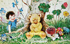 Fairy Plays With Honey Bear Quilt Block Multi Sizes FrEE ShiPPinG WoRld WiDE