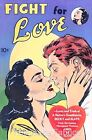 Vintage Comic Fight for Love Quilt Block Multi Sizes