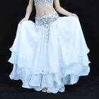NWT belly dance Costume Three layers Skirt 13 Colours