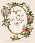 Love Finds The Way Floral Quilt Block Multi Sizes