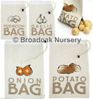 CANVAS VEGETABLE STORAGE BAGS Various Designs Available