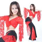 New belly dance 2pics costume Lace top & pants 11 colors
