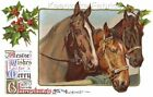 Equestrian Horses Christmas Quilt Block Multi Sizes