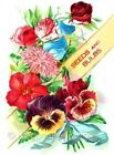 Colorful Seed Packet Panseys Quilt Block Multi Sizes FrEE ShiP WoRld WidE (32A