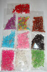 300 x 6mm Bicone Beads In Pink Blue Green Multi Purple Red Black Brown Clear