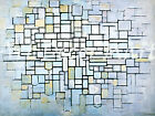 Composition In Blue Grey - - CANVAS OR PRINT WALL ART