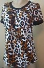 Womens First Choice Brown Shirt Top Blouse M L XL
