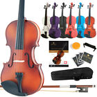 Mendini Violin All Sizes+Book/Online Video+Case+Bow+ShoulderRest