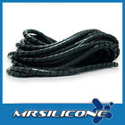 Black Spiral Cable Wrap Binding 6mm Sold Per 2 Metres