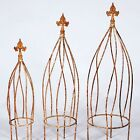 """19"""" Small Wrought Iron Twist Topiary or Obelisk Trellis - Great in a Flower Pot"""