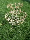 Rustic Wrought Iron Round 2 Tiered Basket Plant Stand Metal Planter Garden Decor