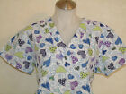 XS S M L XL 2XL PURPLE ROYAL NAVY LIME GREEN LILAC  POLKA DOTS HEARTS SCRUB TOP