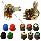 1/5/10/20/50/100/500 K/M ohm Linear/Logarithmic Mono/Stereo Pot/Potentiometer