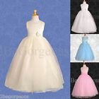 Tulle Dress Wedding Flower Girl Bridesmaid Communion Party Occasion 12m-8y 059