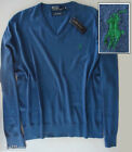 NWT POLO by Ralph Lauren Cashmere Blend V-Neck Sweater $125 Sizes M & XL