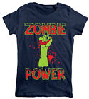 Goodie Two Sleeves Zombie Power Ladies T-shirt  Halloween,Funny,Cool,Kitsch,