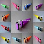 8mm Fake Stretchers / Plugs / Earrings / Cheater Tapers 8 Neon Colours available