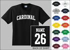 Cardinal College Letters Custom Name & Number Personalized T-shirt