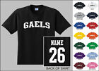 Gaels College Letters Custom Name & Number Personalized T-shirt