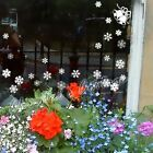 1 Christmas Bell & 24 Mixed Size Snowflake Wall Art Window Stickers Decals