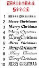 MERRY CHRISTMAS sticker or Your Name Text CHRISTMAS STYLE  decal  vinyl wall art
