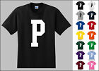 Capital Letter P Alphabet T-Shirt