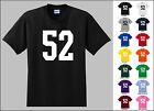 Number 52 Fifty Two T-Shirt