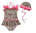 Girl Baby Tankini Swimsuit Bikini Swimwear 2-7Y Leopard Swimming Costume Holiday