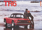 Triumph TR6 'The Beach' Red Classic Showroom Car Picture Poster Print A1 A3+