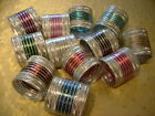 New 24 Asian Indian Bangles Bracelets Silver Glitter Bollywood Jewellery COLOURS