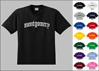 City of Montgomery Old English Font Vintage Style Letters T-shirt