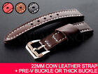 22mm various Cow Leather Strap Band and Pre-V or Thick buckle for PANERAI PAM