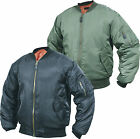 Mens MA1 Flight Pilot Bomber Biker Jacket Security Army Military US Air Force