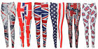 Ladies Star and Stripe Americal Flag Print Legging Union Jeck Trouser