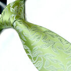 Green, Orange, Pink, Blue and Yellow Leaf Pattern Silk Quality Tie