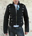Military Parade Jacket Tunic Rock Black / Black New Gothic Steampunk Army Coat