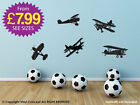 Kids Wall Sticker Plane Adhesive Large Graphic Decal Aeroplane Airplane New A165