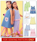 SEWING PATTERN! MAKES SUNDRESS/DRESS~TOP~PANTS! CHILD 3 TO 8! GIRL CLOTHES! EASY