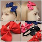 Elasticated Stretch Bandeaux Hair Head Bands With Fabric Bow