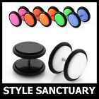 Fake Acrylic Flesh Plug Earring Stud Ear Stretcher Piercing Cheater Tunnel NEW