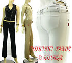 Belted Low Rise Moleton Jeans Brazilian Style Boocut Butt Lifter Jeans 3 Colors
