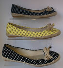 Ladies Spot on Canvas Dotty Shoes F2200