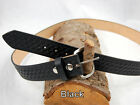 "Barsony Heavy Duty Genuine Black Leather Basket Weave Belt 1.5"" Size 59-60"