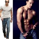 Classic Trendy Vintage Man Men Fashion Spring Summer Casual Jeans Pants Trousers