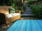Turquoise & Green Outdoor & Indoor Rugs - Many Sizes, Recycle Green