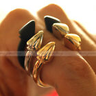 Chic Spike Rivet Through Knuckle Armour Finger Ring Punk Gothic Rock 3 Colors
