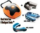 Shock Doctor Mouthguard Case + PRO or GEL MAX or GEL NANO mouth guard AFL RUGBY